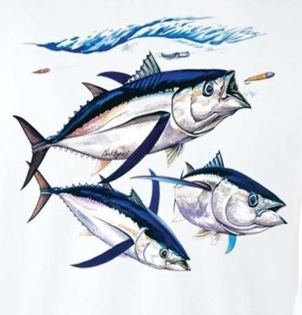 マグロTシャツ ツナTシャツ 長袖Tシャツ 本場米国直輸入品 TUNA デザインTシャツ メンズTシャツ。