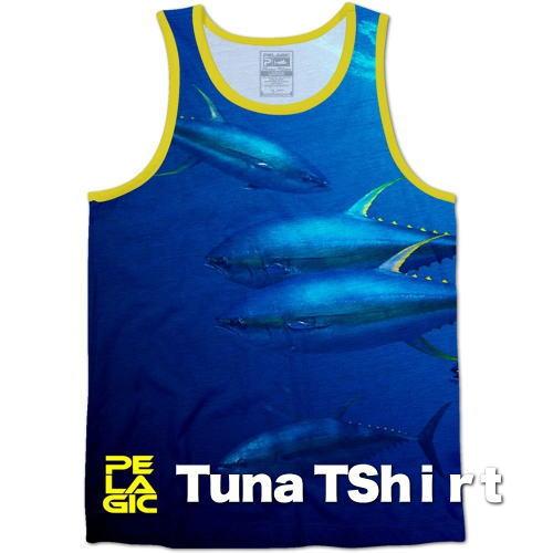 マグロTシャツ ツナTシャツ タンクトップ 本場米国直輸入品 TUNA デザインタンクトップ メンズTシャツ。