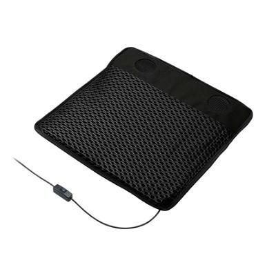パワフル、静音 2つのファンで座面から優しく送風 オフィスチェア用 USBシートクーラー 椅子用クーラー メッシュモデル 在庫限品