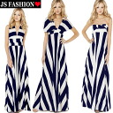 4 WAY & Maxi dress-resort vamp-borders-stripe-beautiful-long one pieces & holterwampi small large size