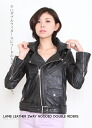 Taking leather 2-WAY フーデッドダブルライダースパーカ / black Raiders jacket / ladies / leather jacket