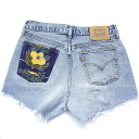 One ☆ ☆ vintage remake bandana Pocket denim shorts UKR057K Chopin Levis