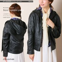 リプロダクトレザーフーデッドレザーパーカ / black leather / leather jackets / ladies / leather/jacket/hoodies/food / ecology and recycling