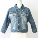 ☆Sleeve / remakes for ☆ USED remake shortstop denim jacket UKR039 g Jean / shortstop length / Lady's /lee/ Levis / denim /7 of one point