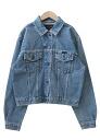 USED remake standard jacket denim UKR032B g Jean Lady's old clothes