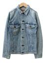 USED remake standard denim jacket UKR032H g Jean-women's vintage