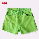 Now just point 15 times ☆ ☆ one ☆ vintage Levi's vitamin color denim short pants UKR036-8 Womens Green