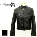 Leather メンズリプロダクトレザーベーシックシングルライダース / black leather / leather jackets / men's / black / leather Jean and leather Jean / riders