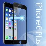iPhone6/6s Plus 用 ブルーライトカット 全面 液晶保護ガラス(ブラック)