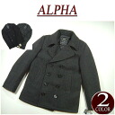 ar372 new ALPHA INDUSTRIES USA planning USN Pea Coat Melton wool military P coat mjn45032c1 men's jacket casual pea coat Alpha industries