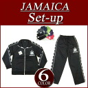 or101 new JAMAICA regular fit raster Jersey top and bottom set mens Jamaica Setup