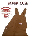af111 brand new ROUND HOUSE classic made in USA HEAVY DUTY DUCK OVERALLS Brown duck overalls Lot83 mens Round House casual work RoundHouse Made in USA