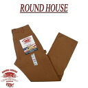 af141 new ROUND HOUSE classic USA-made DOUBLE FRONT DUNGAREES BROWN DUCK Brown duck double knee painter pants Lot2202 mens Roundhouse casual work Dungarees RoundHouse Made in the USA