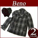 nu181 brand new Beno ombre check Melton wool short coat P dot lined jacket mens casual polka-dot every Qazi peacoat