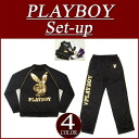 nu231 brand new PLAYBOY foil print piping Jersey top and bottom set mens Setup all-in-one Playboy snag PLAY BOY