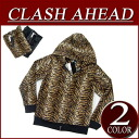 ix713 new article Clash Ahead fake fur tiger pattern double zip parka men animal American casual food parka TIGER tiger pattern
