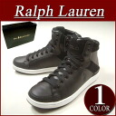 ax572 new article POLO by Ralph Lauren TALBERT HIGH BLACK LEATHER software leather X suede higher frequency elimination sneakers men black shoes RalphLauren polo Ralph Lauren