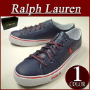ax702 brand new POLO by Ralph Lauren CANTOR LOW 2 TUMBLED LEATHER タンブルド leather low cut sneakers mens Navy * red shoes RalphLauren Polo Ralph Lauren