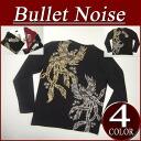 iy259 brand new BULLET NOISE Phoenix Union Crest print Japanese pattern Ron T men's long sleeve Japanese pattern T shirt long tee