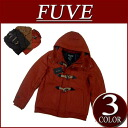 Duffel coat men stripe lining jacket American casual shortstop with nw923 new article FUVE plain fabric melton wool shortstop length batting