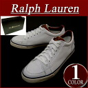ay071 brand new POLO by Ralph Lauren NORWOOD タンブルド leather / canvas low-cut sneakers mens CANVAS×TUMBLED LEATHER White x Navy shoes RalphLauren Polo Ralph Lauren
