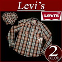 ay181 brand new Levis long sleeve check Western shirt men's US line Levi's WESTERN SNAP FRONT LS SHIRT AUBURN check shirts Levi's