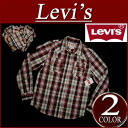 ay191 brand new Levis long sleeve check Western shirt men's US line Levi's WESTERN SNAP FRONT LS SHIRT BIKING RED check shirt Levi's