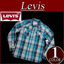 ay391 brand new Levis town with long sleeve check Western shirt men's US line Levi's WESTERN SNAP FRONT LS SHIRT BOUNTY BLUE check shirt Levi's