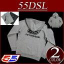 ay421 new article 55DSL F-ZIPLOGO SWEAT-SHIRT classical music logo print back raising sweat shirt zip parka men long sleeves フルジップスウェットパーカーアメカジフィフティーファイブディーゼル DIESEL