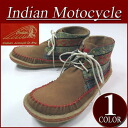 fw421 brand new Indian Motocycle CREPE crepe sole fabric / leather native pattern switching native moccasins chukka ID-1253A mens インディアンモト cycle sneakers chukka boots IndianMotocycle