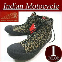 fw461 brand new Indian Motocycle CREPE crepe sole fur / leather Leopard pattern サイドジップ high cut sneakers ID-902 mens & Womens インディアンモト cycle Leopard boots IndianMotocycle