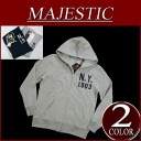 Back raising sweat shirt zip parka NYK0035 メンズマジェスティック MLB OFFICIAL WEAR NY long sleeves food sweat shirt parka with iz652 new article MAJESTIC New York Yankees felt emblem