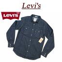 af073 new article Levis denim western shirt men US line Levis CLASSIC DENIM BARSTOW WESTERN SHIRT DARK RINCE long sleeves denim shirt work shirt Levi's