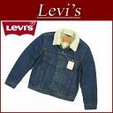 af191 brand new Levis サードタイプ back パイルボア denim jacket G Jean-mens US line Levi's RELAXED SHERPA TRUCKER 3RD TIPE DENIM JACKET 72336-0001 FOLEY Tracker denim casual Levi's