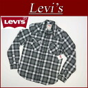 az711 brand new Levis town with long-sleeved ombre check flannel Western shirt men's US line Levi's RAILEY WESTERN SNAP FRONT LS COTTON FLANNEL SHIRT CAVIAR flannel shirts Levi's