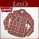 Long sleeves check flannelette western shirt men US line Levis RAILEY WESTERN SNAP FRONT LS COTTON FLANNEL SHIRT BIKING RED banian Levi's with az712 new article Levis gusset