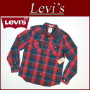 az741 brand new Levis long sleeve check Western shirt men's US line Levi's ROCKY WESTERN SNAP FRONT LS SHIRT RED checked shirt Levi's