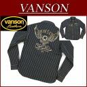ny251 brand new VANSON flying star chain embroidery Wabash stripe Long Sleeve Denim Western shirt NVSL-410 men's Vanson FLYINGSTAR EMBLEM DENIM WESTERN SHIRT WABASH STRIPE denim shirt Vanson