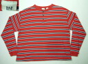 klt064 S Gap henley neck long sleeves horizontal stripe Ron T-shirt US old clothes