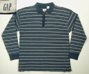 klt170 XL GAP border long sleeve zip polo shirt gap American clothes