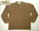 klt171 M USA from EddieBauer long sleeve border Henry Ron T American clothes