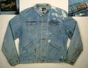 ljk277 XL Wrangler 124 MJ denim jacket G Jean-vintage Wrangler
