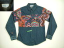 lls262 XXS for kids ' CBMRanch Long Sleeve Denim Shirt-American thrift