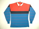 lt57 long sleeves horizontal stripe rugby shirt large size old clothes