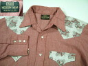 ols709 M 70'sSears floral design reshuffling long sleeves western shirt US old clothes Sears