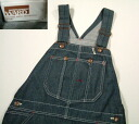 kpt526 w32 70's Montgomery word denim overall US old clothes