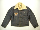kjk766 L ROEBUCKS boa denim jacket G Jean old clothes with