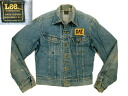 220 ljk170 M 70'sLEE Lee embroidery case denim jacket G Jean US old clothes