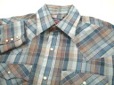 ols329 M Levis Levis long sleeves check western shirt US old clothes