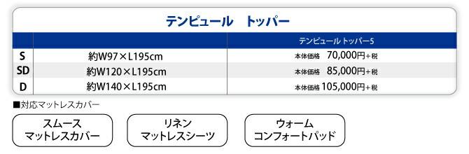 テンピュールトッパー価格表